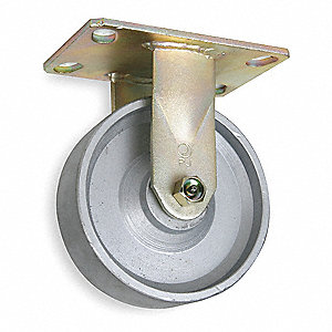 "5"" Medium-Duty Rigid Plate Caster, 1750 lb. Load Rating"