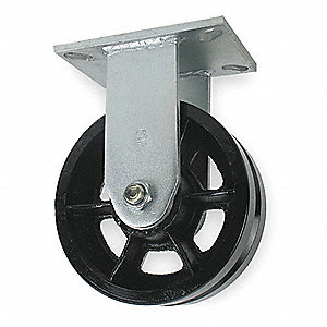 "8"" Medium-Duty Rigid Plate Caster, 2800 lb. Load Rating"