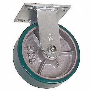 Rigid Plate Caster,Poly,5 in.,1050 lb.,B