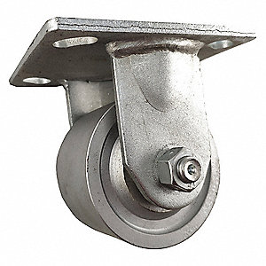 "8"" Medium-Duty Rigid Plate Caster, 1250 lb. Load Rating"