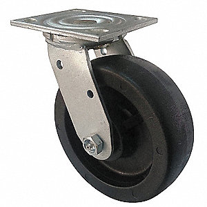 "3-1/4"" Light-Medium Duty Swivel Plate Caster, 800 lb. Load Rating"