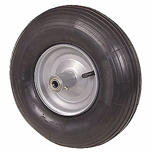 "13"" Light-Medium Duty Ribbed Tread Pneumatic Wheel, 350 lb. Load Rating"