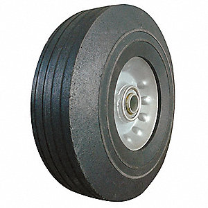 Solid Rubber Wheel,8 in.,400 lb.,Sym