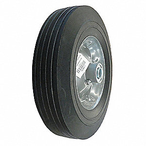 "10"" Light-Medium Duty Ribbed Tread Solid Wheel, 450 lb. Load Rating"