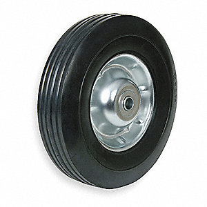 "12"" Light-Duty  Ribbed Tread Semi-Pneumatic Wheel, 185 lb. Load Rating"