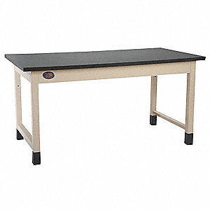 "Ergonomic Lab Workbench, 60"" Length, 30"" Width, Chem Guard®"