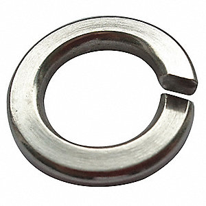 Split Lock Washer,Bolt 1/2,18-8 SS,PK50