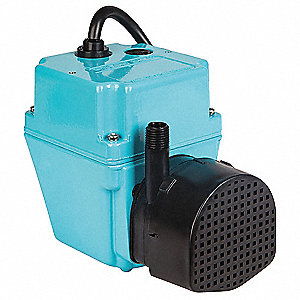 1/40 hp HP Compact Submersible Pump, 115V Voltage, Continuous Duty, 6 ft Cord Length