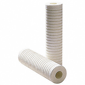 Melt Blown Filter Cartridge, 5 Microns, Polypropylene Filter Media, 8 gpm Flow Rate