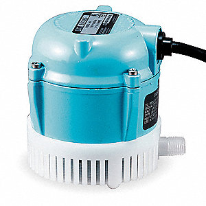 1/200 HP Compact Submersible Pump, 115V Voltage, Continuous Duty, 6 ft. Cord Length