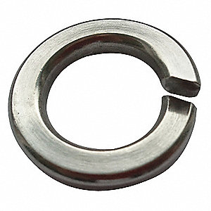 Split Lock Washer,Bolt 1/4,18-8 SS,PK100
