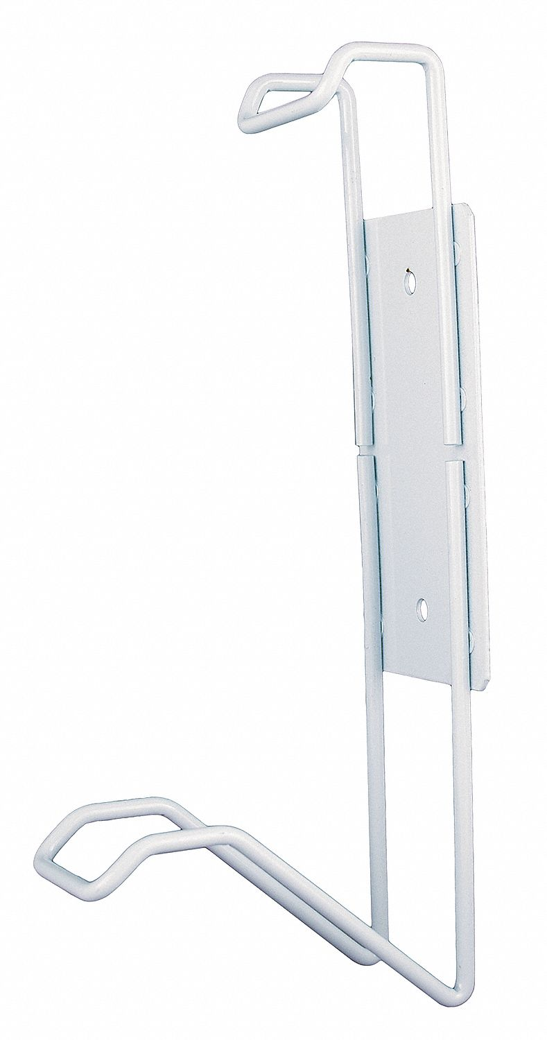 White Powder Coated Steel, Mounting Bracket, 1 EA