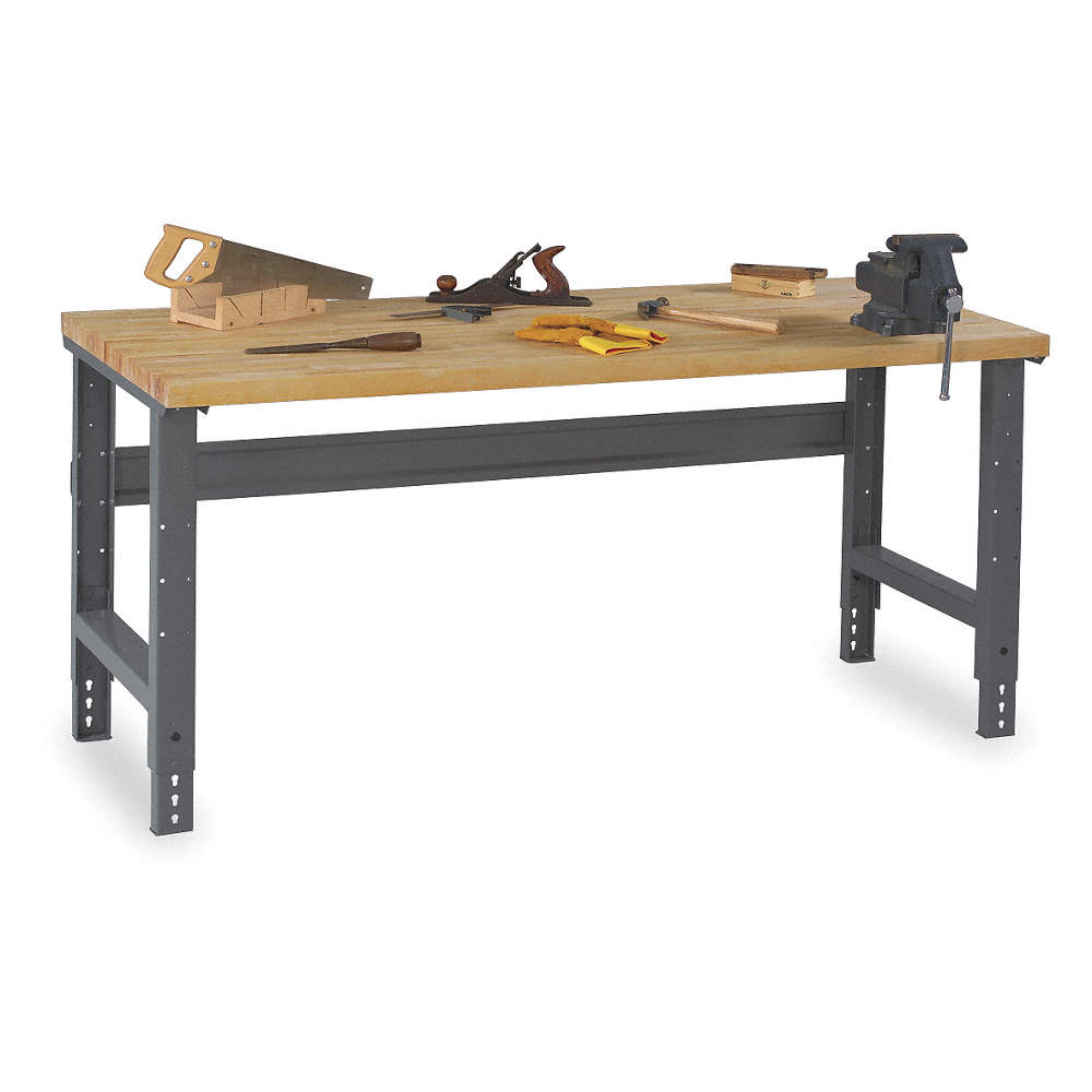 Super Bolted Workbench Butcher Block 36 Depth 27 7 8 To 35 3 8 Height 72 Width 3600 Lb Load Capa Ibusinesslaw Wood Chair Design Ideas Ibusinesslaworg