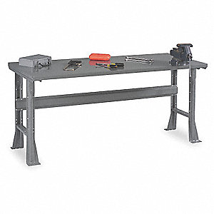 "Workbench, Steel, 30"" Depth, 33-1/2"" Height, 72"" Width, 1800 lb. Load Capacity"