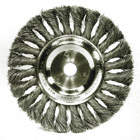 TWIST WHEEL BRUSH,8 DIA,0.0230 WIRE