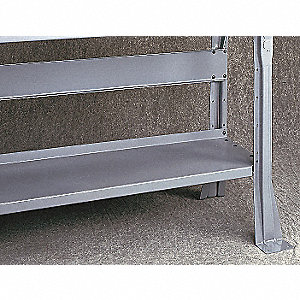 Lower Shelf,60 W x 14 D x 1 in. H,Gray