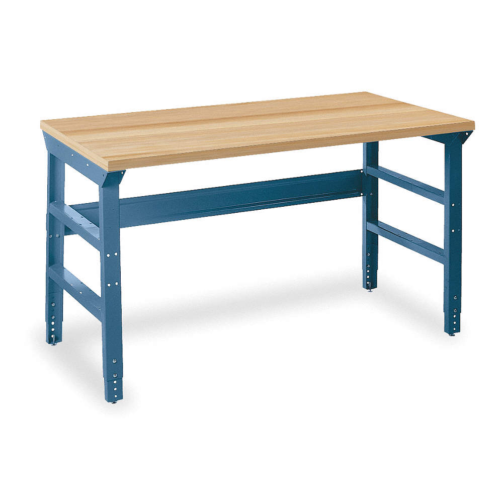 Amazing Bolted Workbench Butcher Block 30 Depth 31 3 4 To 35 3 4 Height 60 Width 5000 Lb Load Capa Andrewgaddart Wooden Chair Designs For Living Room Andrewgaddartcom