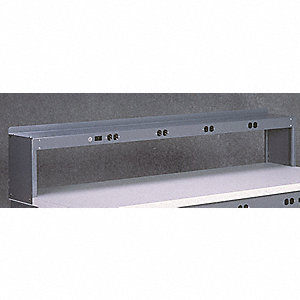 Electrical Shelf Riser,72Wx15Dx18H,Gray