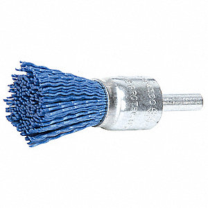"2-1/4"" End Brush with Nylon Fill Material and 0.006"" Wire Dia."