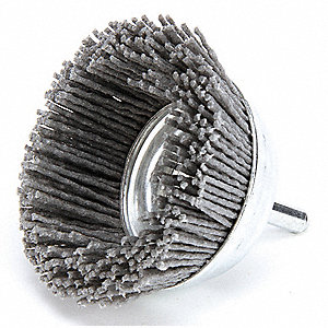 Cup Brush,3 In.,1/4 In.,4,500 RPM