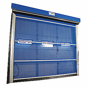 Bug Blocking Mesh Door, Motorized Operation, Face Mount Mounting, 8 ft. Width, 8 ft. Height