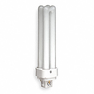 13.0 Watts Plug-In CFL, T4 PL, 2-Pin (GX23-2), 810 Lumens, 4100K Bulb Color Temp.