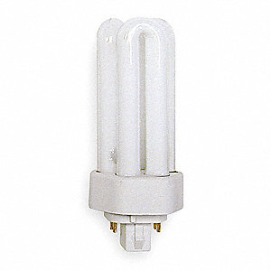 18.0 Watts  Plug-In CFL, T4 PL, 4-Pin (GX24Q-2), 1200 Lumens 4100K Bulb Color Temp.