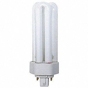 32 Watts  Plug-In CFL, T4 PL, 4-Pin (GX24Q-3), 2400 Lumens 3500K Bulb Color Temp.