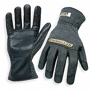 HEAT RESIST GLOVES,BLACK, L,KEVLAR,