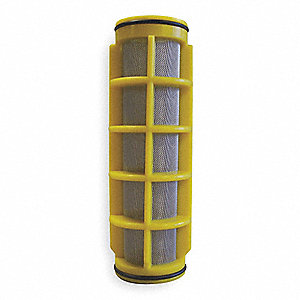 "5"" Stainless Steel Filter Screen with 17.00 sq. in. Screen Area, Yellow"