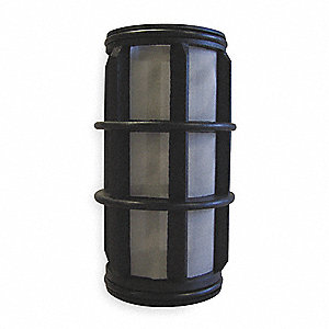 "5"" Stainless Steel Filter Screen with 26.00 sq. in. Screen Area, Black"