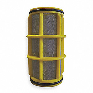 "5"" Stainless Steel Filter Screen with 26.00 sq. in. Screen Area, Yellow"