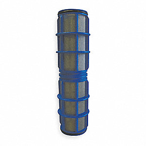 FILTER SCREEN,BLUE,10 IN L,DIA 2 IN