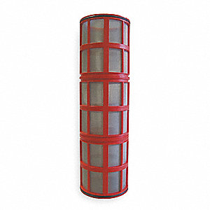 "14-5/8"" Stainless Steel Filter Screen with 109.00 sq. in. Screen Area, Red"