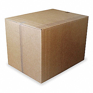 "Multidepth Shipping Carton, Brown, Inside Width 24"", Inside Length 24"", 100 lb., 1 EA"