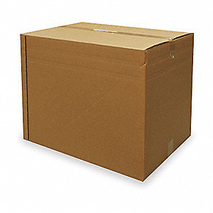 "Multidepth Shipping Carton, Brown, Inside Width 18"", Inside Length 24"", 120 lb., 1 EA"
