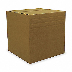 "Shipping Carton, Brown, Inside Width 8"", Inside Length 42"", Inside Depth 60"", 100 lb., 1 EA"