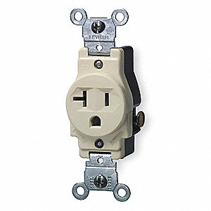 SINGLE RECEPTACLE,20 AMPS AC,5-20R,