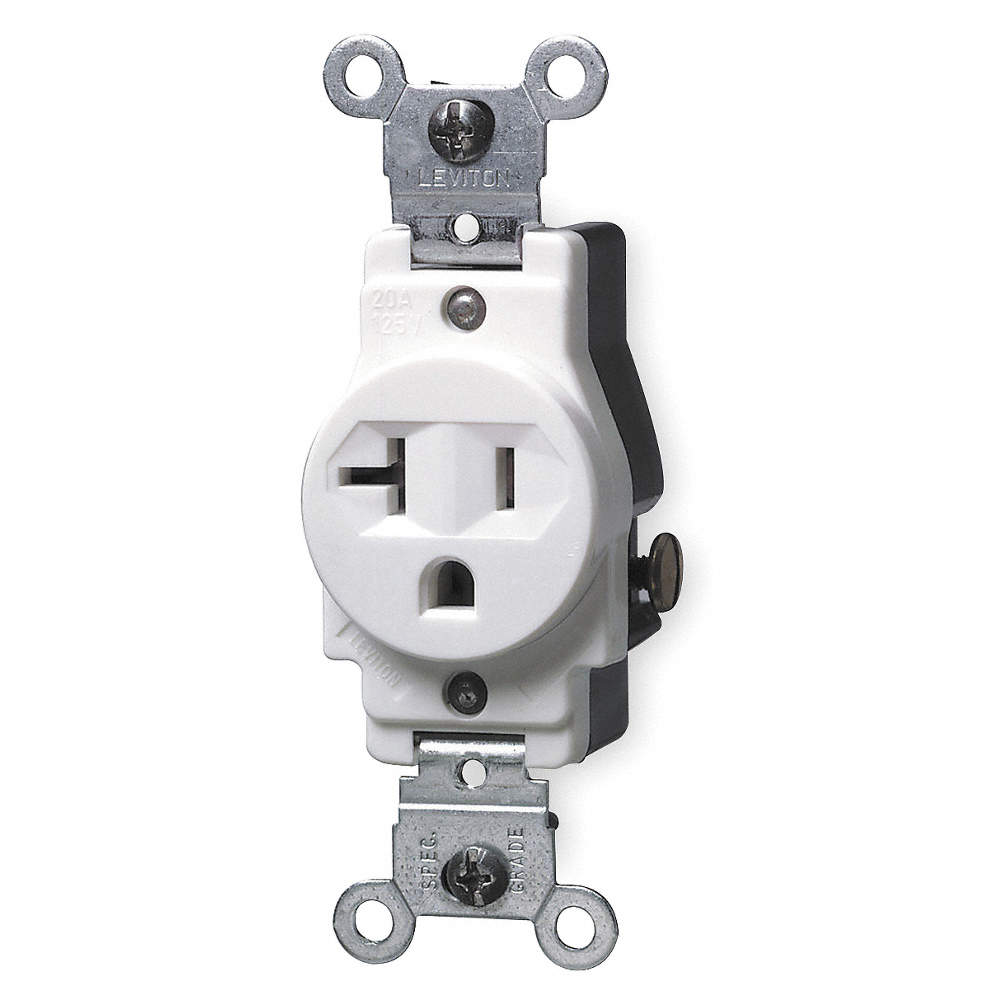 LEVITON General Purpose; Tamper Resistant: No - 1PKC1|5801-W - Grainger