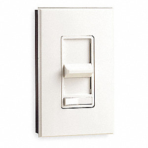 Lighting Dimmer, Slide, Incandescent Lamp Type, 1-Pole Switch Type