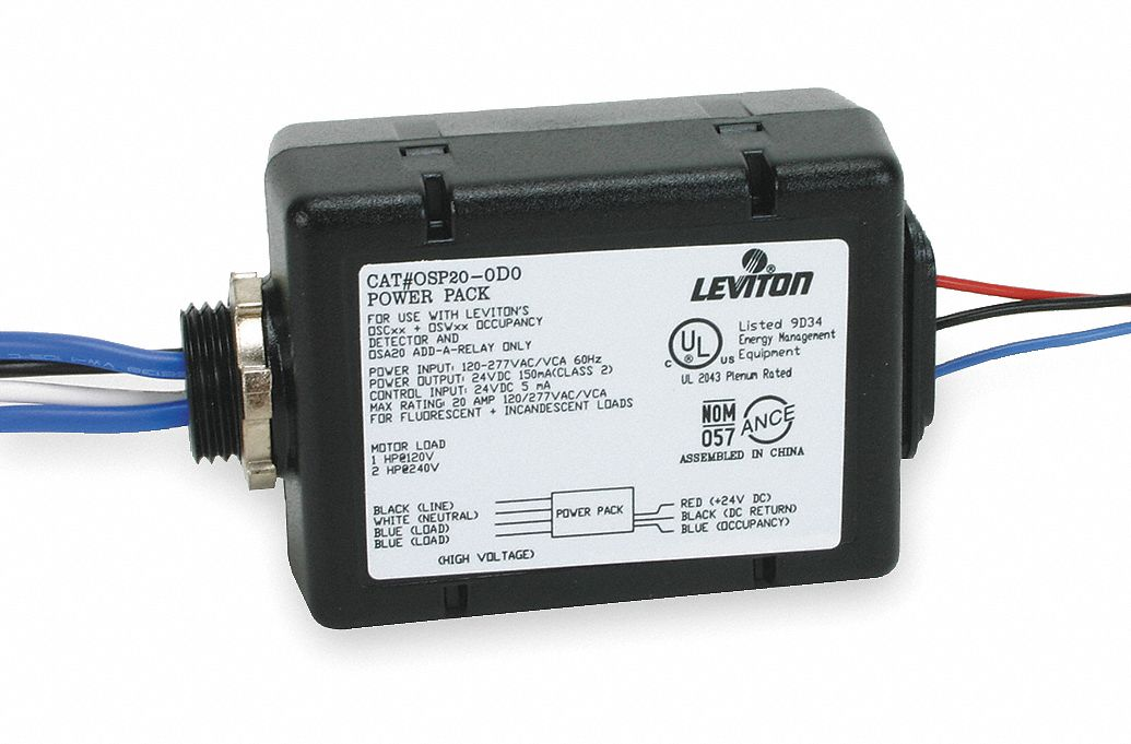 LEVITON Power Pack,For Ceiling Sensors - 1PKF3|OSP20-0D0 - Grainger