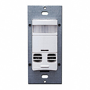 Wall Switch Box Occupancy Sensor, 2400 sq. ft. Passive Infrared, Ultrasonic, White