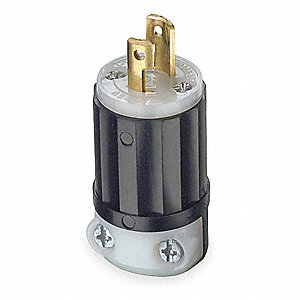 LOCKING PLUG,MIDGET,15 A,ML1