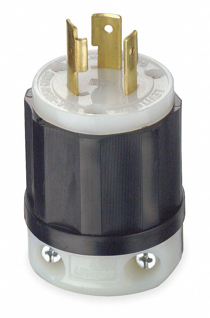 [GJFJ_338]  LEVITON 20A Industrial Grade Non-Shrouded Locking Plug, Black/White; NEMA  Configuration: L5-20P - 1PKH2|2311 - Grainger | Leviton L520 Wire Diagram |  | Grainger