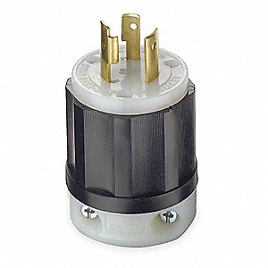 Locking Plug, 20 Amps, 250VAC Voltage, NEMA Configuration: L6-20P, Number of Poles: 2