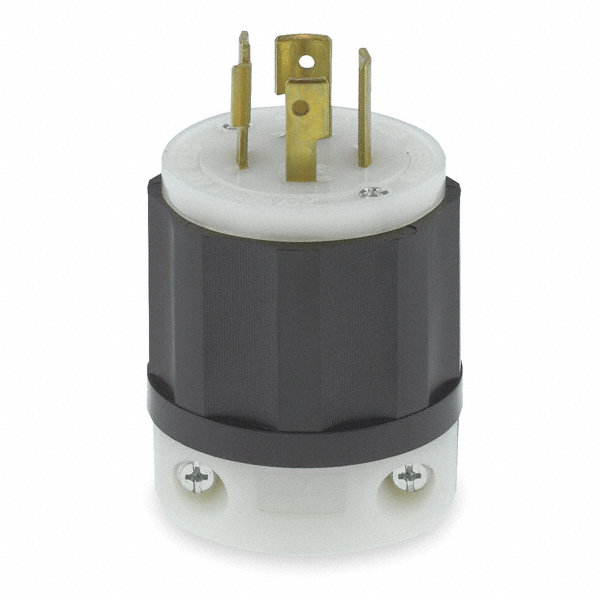 leviton 20a industrial grade non shrouded locking plug black leviton 20a industrial grade non shrouded locking plug black white nema configuration l15 20p 1pkj2 2421 grainger