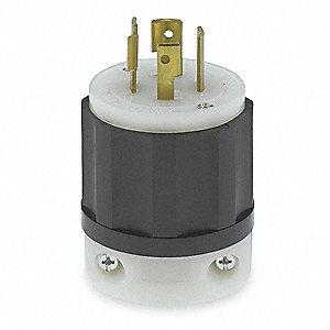 LEVITON 20A Industrial Grade Non-Shrouded Locking Plug ... on