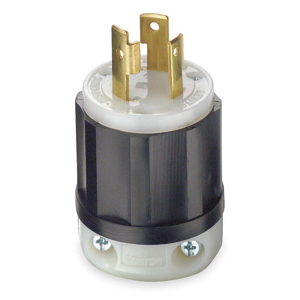 Leviton 30a Industrial Grade Non Shrouded Locking Plug Black White Wire Connectors Electrical Waytek Inc Zoom Out Reset Put Photo At Full Then Double Click