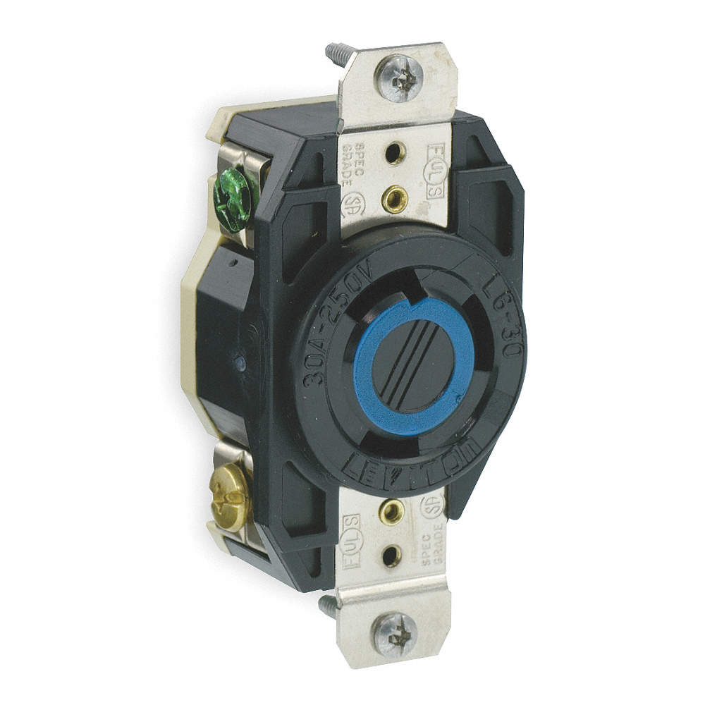 Leviton Black Locking Receptacle 30 Amps 250vac Voltage Nema Plug Wiring Diagram Quotes Zoom Out Reset Put Photo At Full Then Double Click