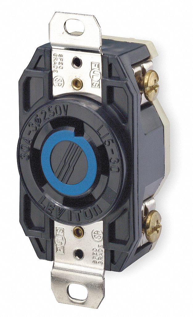 1PKK7_AS01 leviton locking receptacle,industrial,30,black 1pkk7 2720 grainger leviton 30a flush mount power outlet wiring diagram at bayanpartner.co